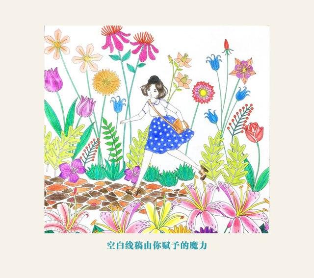 Wholesale 20pcs Lot Fantasy Dream Fashion Secret Garden Style Alice Rabit Drawing Book Coloring Books