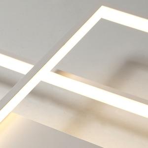 Image 4 - NEO Barlume di Nuovo Arrivo Nero/Bianco LED Soffitto Lampadario Per Soggiorno Studio Camera Da Letto In Alluminio Moderna Led Lampadario A Soffitto