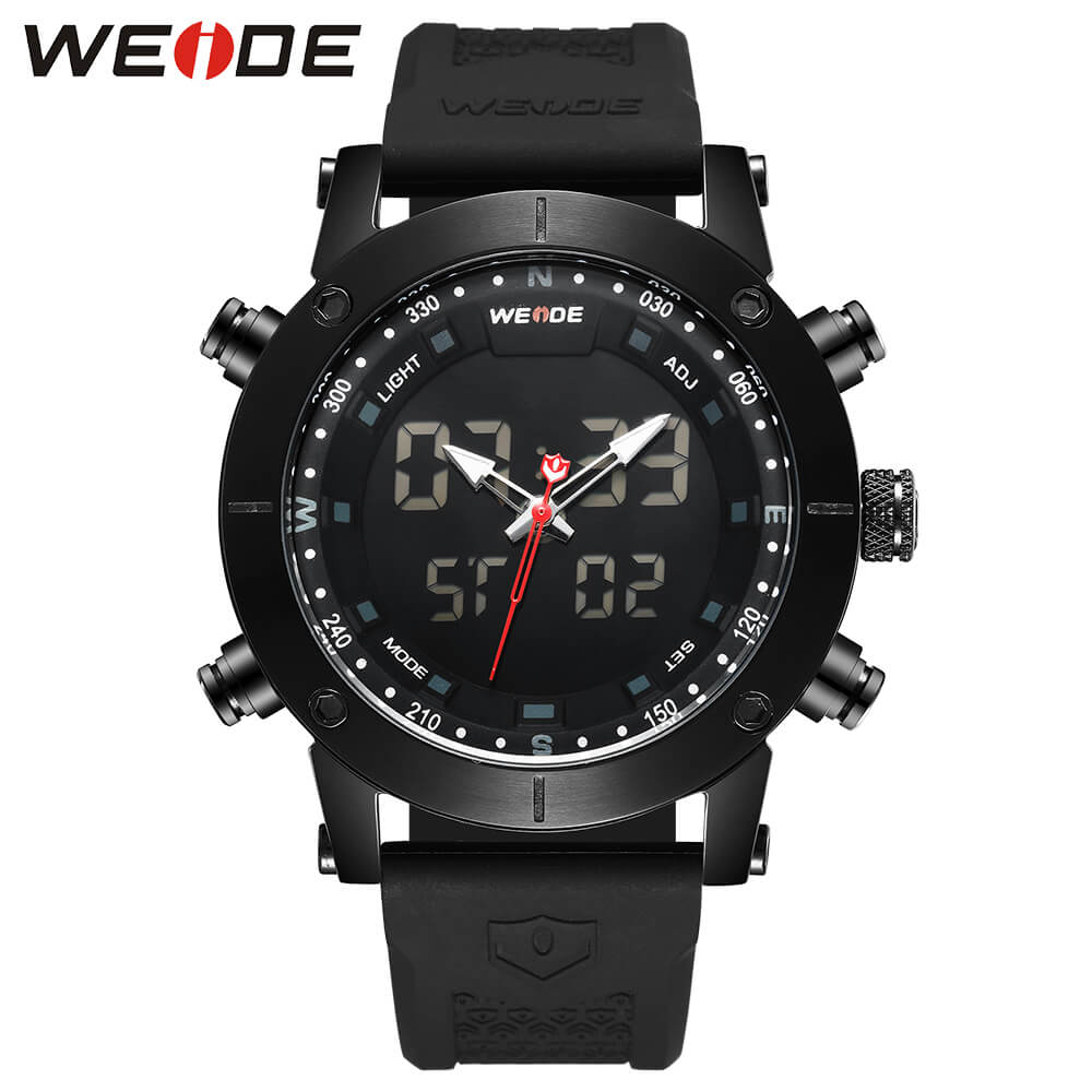 WEIDE luxury Genuine LCD digital Sport fitness watch alarm clock  Water Resistant best selling 2018 products Quartz watches 6309 splendid brand new boys girls students time clock electronic digital lcd wrist sport watch
