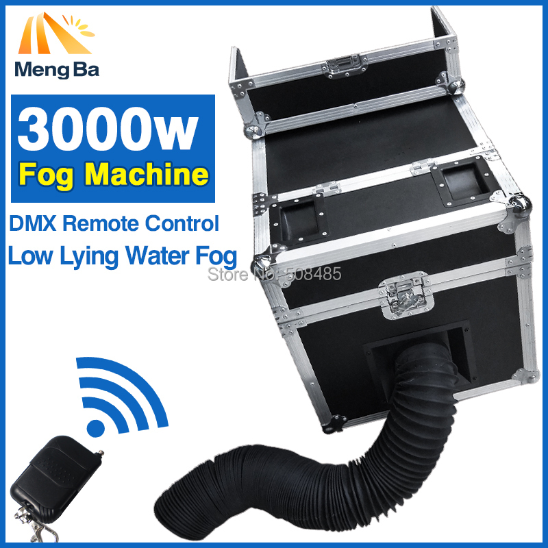 3000 W agua niebla humo agua con DMX Control remoto bajas agua niebla del efecto de etapa de la máquina de humo