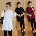 Осень и зима новый Корейской версии трехмерной волновой точки свитер с длинными рукавами с длинными рукавами случайные модели