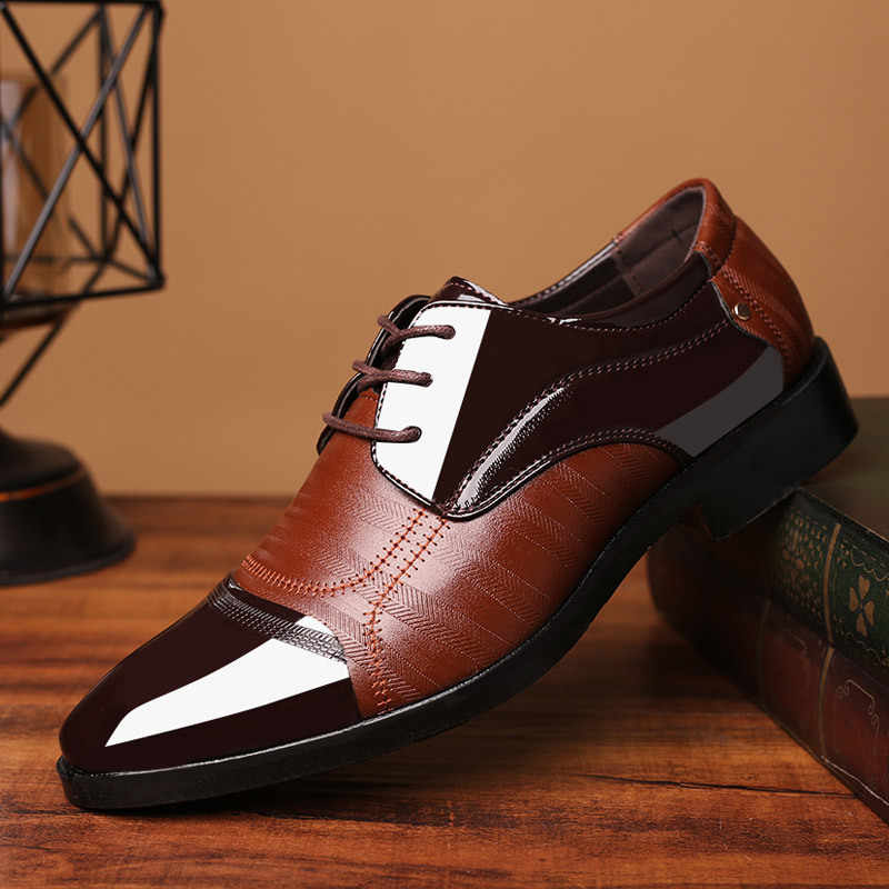 ab91136874 COSIDRAM New 2018 PU Leather Dress Shoes For Men Formal Shoes Spring ...
