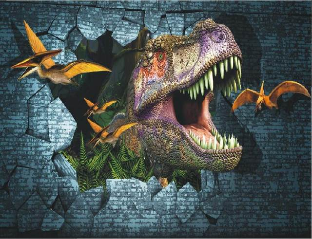 Online Shop NEW 3D Dinosaurs wall Mural wallpaper full Wall Murals