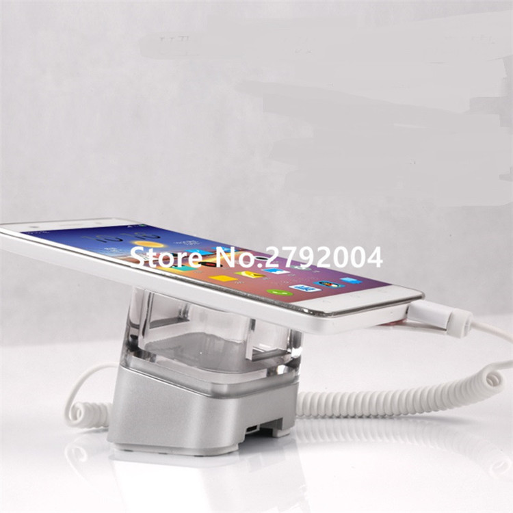 5 set/lot Acrylic Cell Phone Retail Stand Magnetic Sticker Fix Alarm Charger Smartphone Holder Mobile Exhibition Anti-theft wholesale price mobile phone anti theft alarm display stand with charging for exhibition