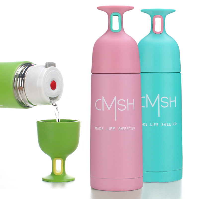 Water Bottle For Office: Stainless Steel Vacuum Cup Wine Glass Cup Portable Thermos