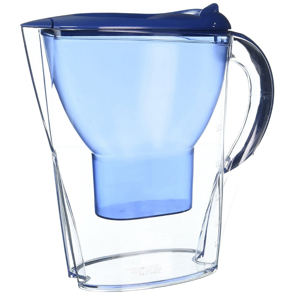 10 Cup Everyday Water Pitcher With 1 Filter BPA Free White Soft Grip Classic Oval