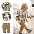 Criança meninos roupas de algodão crianças crianças roupas de outono casacos Shirt calças ternos Baby Boy roupas Set crianças