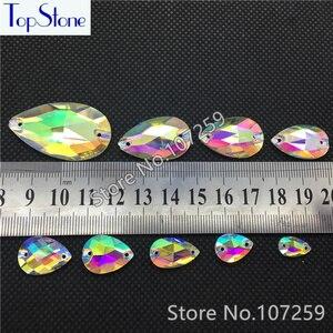 Камни в виде капель из страз TopStone 3230 #, Пришивные стеклянные каплевидные камни размером 7x12 11x18 13x22 13x18 17x28 22x38 для танца своими руками