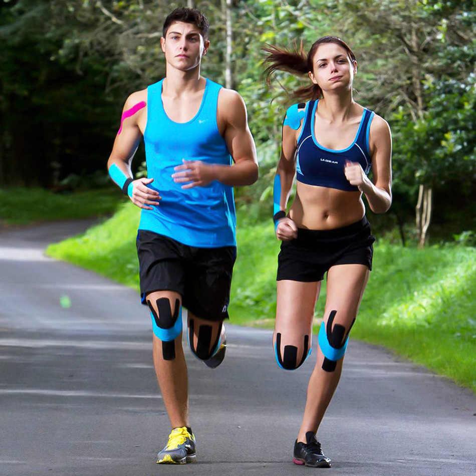 Vale la pena cinta de kinesiología atlética recuperación cinta elástica rodillera alivio del dolor muscular rodilleras soporte para el vendaje de gimnasio Fitness