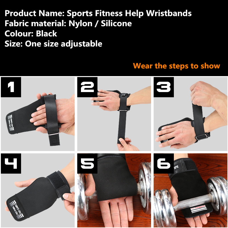 Sports fitness help protects wristband Weightlifting Strength Training Barbell Straps Wraps Hand Wrist Support for Protection