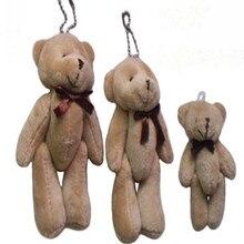 12 шт./лот 8 см бурый медведь мультфильм букет кукла плюшевые суставы голый плюшевый мишка кукла мини-медведь кукла