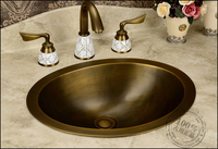 fashion europe vintage copper bathroom full bronze wash basin Handmade Copper Sink counter basin