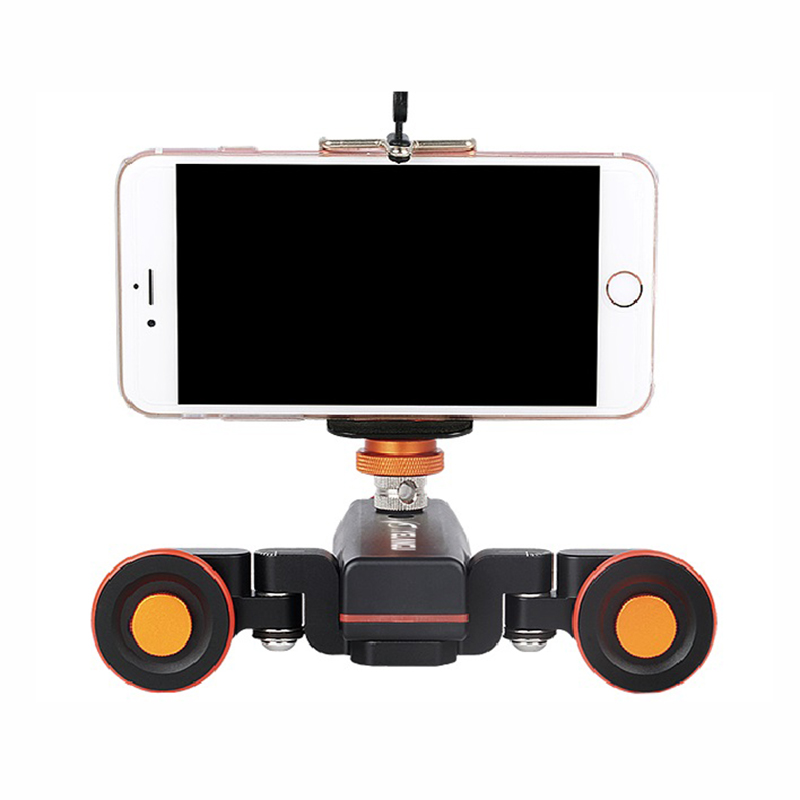 Yelangu L4 Motorized Dolly Wireless Remote Control Wheel Pulley Car Rail Track Dolly Slider for iPhone DSLR Camera Smart Phone in Rail Systems from Consumer Electronics