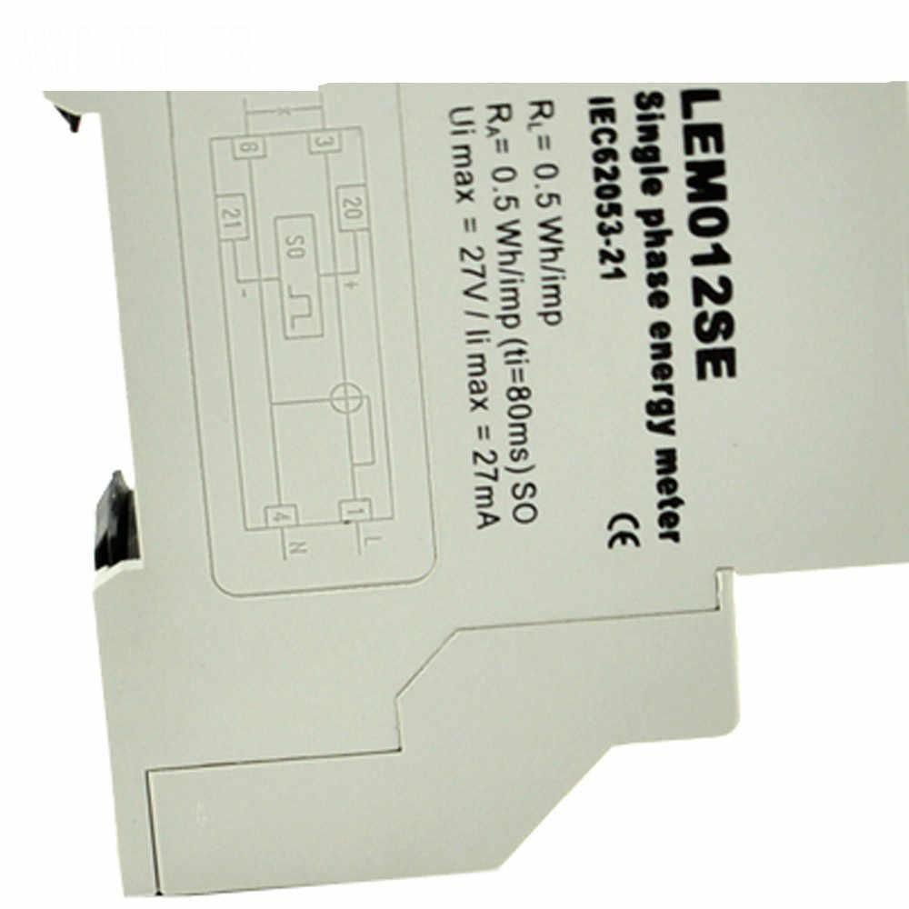 Einphasig KWH Watt Stunde Din Schiene Energie Meter Tester Monitor
