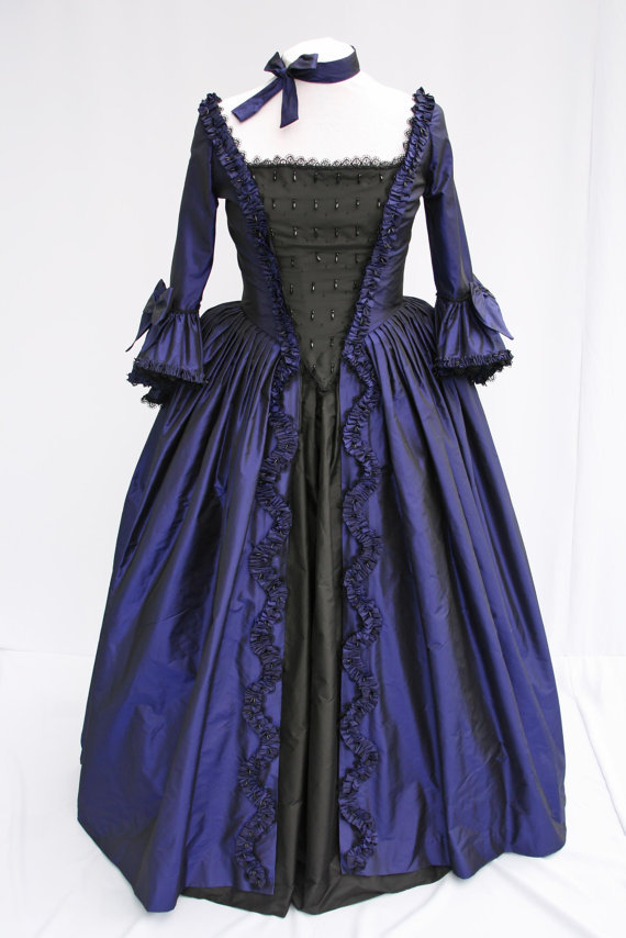 Marie Antionette Mid 1700's Georgian Style Ball Gown Women ...