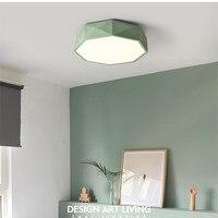 Postmodern Macarons Geometric Dining Room Ceiling Light Nordic Lovely Bedroom Ceiling Lamp Living Room Bar Kids LED Lights