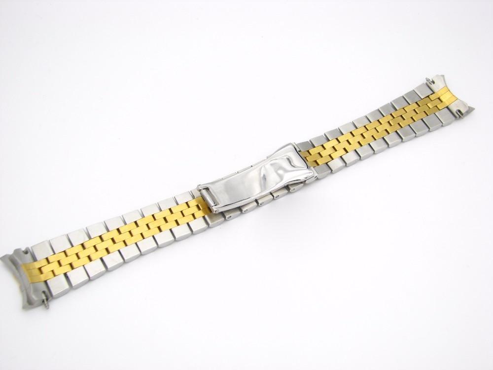 CARLYWET 20mm Steel Gold Dvoubarevný pásek na pásek Pevné - Příslušenství k hodinkám - Fotografie 2