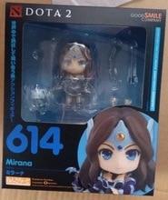 Nendoroid 614 10 cm Kawaii Bonito Dota 2 Jogo dota2 Mirana Nightshade POM Character Ação PVC Figuras Coleção Brinquedos