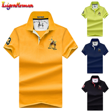 Erkek POLO gömlekler marka pamuk kısa kollu Camisas katı nakış Polo yaz standı yaka erkek Polo gömlek artı boyutu 4XL