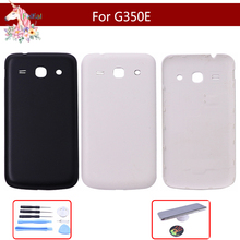 цена на 4.3 For Samsung Galaxy Core Plus SM-G350E G350 G3500 G3502 Battery Back Cover Rear Door Housing Replacement Parts With Logo