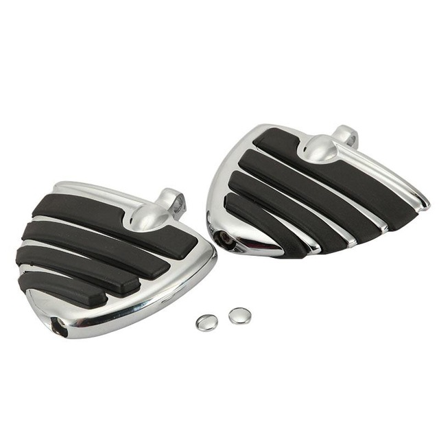 Motorcycle Chrome Foot Pegs Foot Rests Set with Male Mount for Harley Davidson Skidproof Wing Front Rear Sportster Touring Dyna motorcycle front brake master cylinder cover for harley davidson touring 1996 2007 chrome black