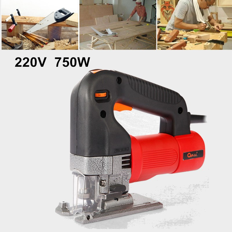 Best Price 750W Electric Jig Saw 220V Woodworking Power Tools Multifunction Chainsaw Hand Saw Cutting Machine Wood Saw Hand Tool de cristoforo the jig saw scroll saw book with 80 patterns pr only