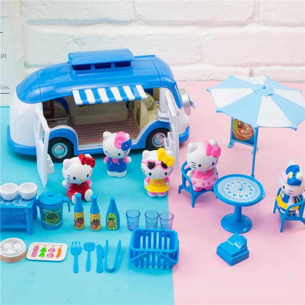 Crianças Simulação IceCream Autocaravana Piquenique cozinha Conjunto de Brinquedos Do Carro Do Caminhão Jogar Com a Família Interesse Brinquedo Incrível Presente Para As Crianças