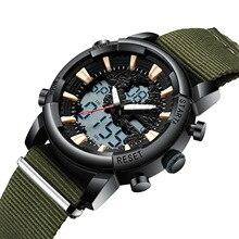 Для мужчин S спортивные часы Холст Ен бренд наручные цифровые часы мужские водонепроница календари для мужчин часы