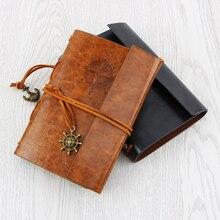 Лучшие 2017 ограниченное по времени предложение-caderno Sketchbook новая книга Тетрадь Винтаж Pirate Note Сменные Traveler кожаный чехол пустой журнал