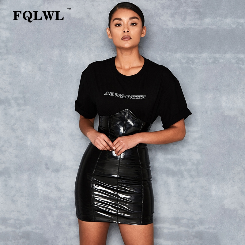 HTB1AAqdXyDxK1RjSsphq6zHrpXad - FQLWL Faxu Latex Pu Leather Skirt For Woman Zipper Black/High Waisted/Pencil Skirts Womens Autumn Wrap Sexy Mini Skirt Female