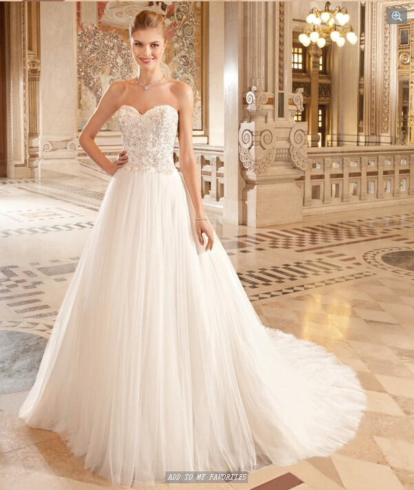 New Style 2017 A Line Wedding Dresses Sweetheart Neckline Backless Tulle Robe De Mariage Bride Gowns Custom Made In From Weddings