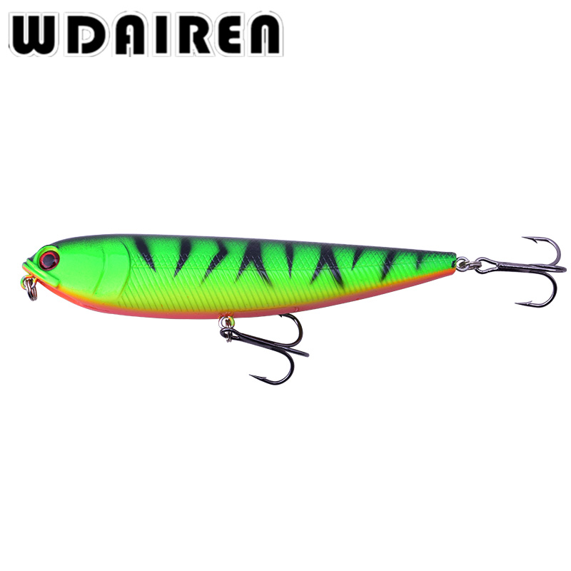 1Pcs Pencil Lure Fishing Bait 110mm 20g Artificial Minnow Hard Lures Baits Floating Top water Surface Fishing Tackle WD-216 1pc 5 5cm 13g frog lure fishing lures treble hooks top water ray frog artificial minnow crank strong artificial soft bait