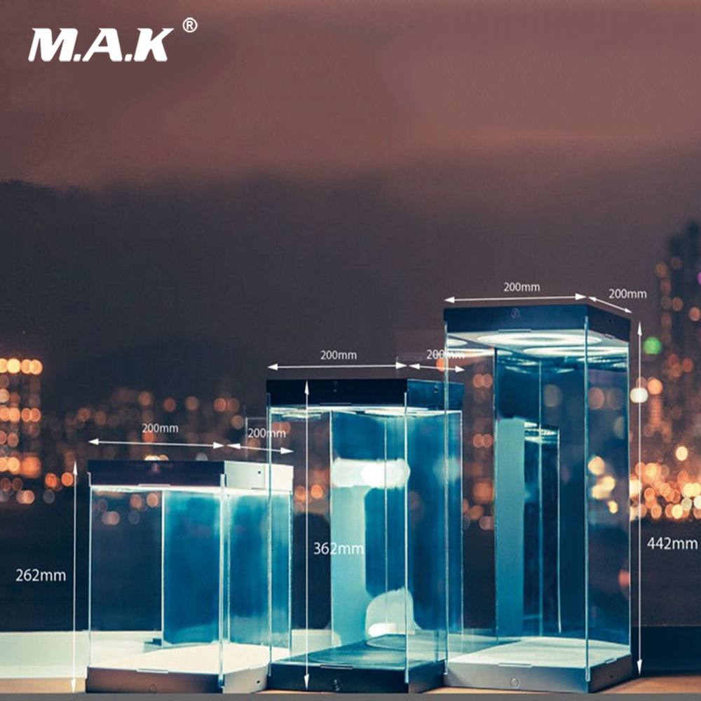 Toys Box 1//6 Iron Man MK6 Mark6 Display Case Dust Proof LED Light Collection
