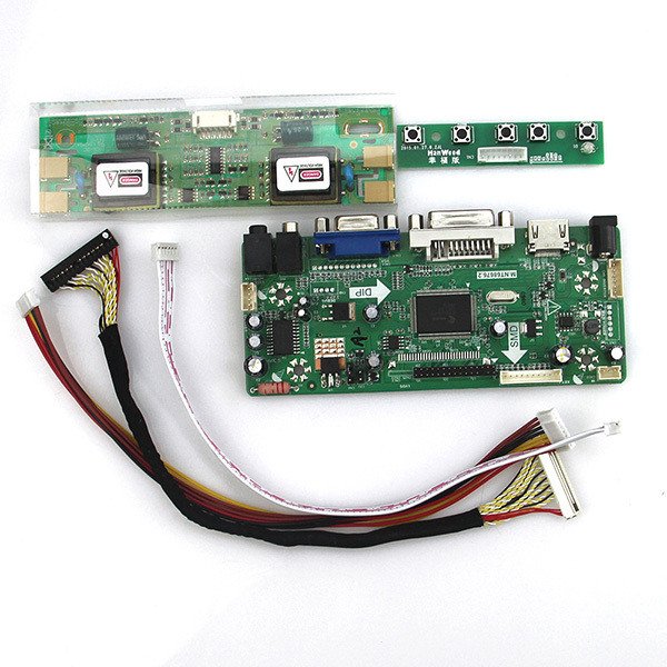 М. NT68676 ЖК/LED Драйвер Контроллера Совета (HDMI + VGA + DVI + Аудио) Для M190EN04 V5 M190EG02 V.4 LVDS Монитор Повторное Ноутбук 1280*1024
