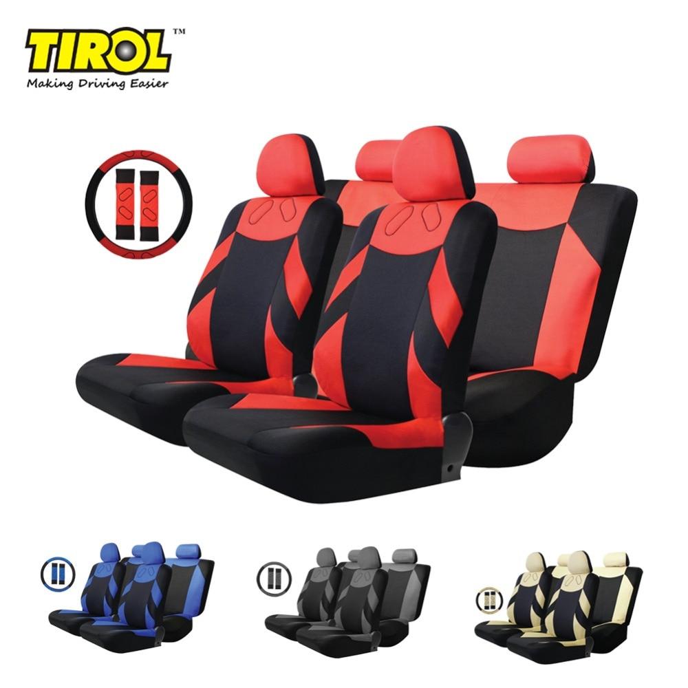 TIROL T20648b Hot Koop Polyester 13 Stks / set Universele Autostoel - Auto-interieur accessoires - Foto 1