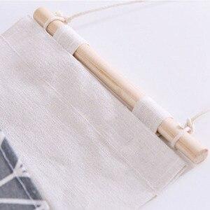 Image 4 - Foldable Hanging Pocket Organizer Storage Bag Foldable Hang Wall Dormitory Hanging Storage Organizador 2019 Hot Sale