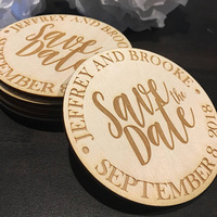 Nature Color Wood Gift Tags Wooden Wedding Favors Personalized Save The Date Magnets Wedding Bridal Shower