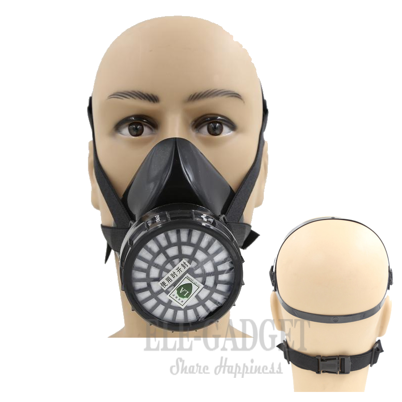 HIgh Quality Work Safety Industrial Respirator Half Face Dust Gas Mask Chemical Gas Filter For Painting Spraying Organic Vapours safety respiratory gas mask half face filter anti dust smoke protective mask for painting spraying industrial pesticide chemical