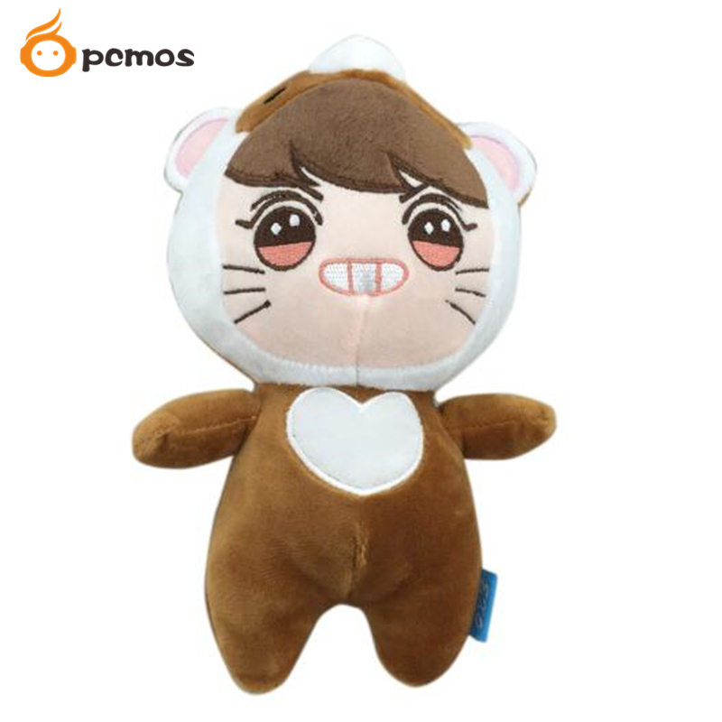 Korea Kawaii Plush Toy Brown Bear Soft Stuffed Dolls PP Cotton Collection Baby Dolls Girls Fans Gift Cartoon Fan Gift Collection
