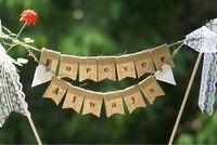 ZAWSZE ZAWSZE Tort Weselny Banner, Ciasto Topper, Ślub Banner, Strona Dekoracji, Juta Banner, z Koronki Łuk