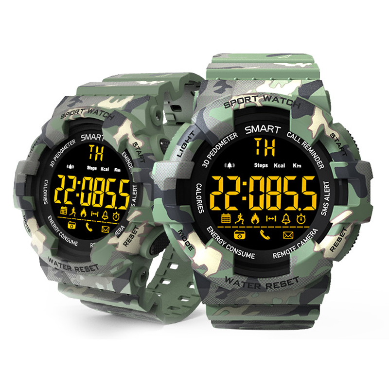 Mens Military Sports Smartwatch Men Camouflage Dial