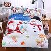 BeddingOutlet Christmas Bedding Set Bright Duvet Cover With Pillowcases Santa Claus With Snowman Quilt Cover AU