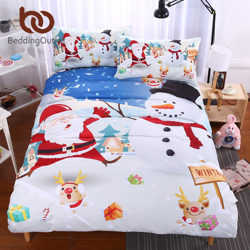 BeddingOutlet Christmas Bedding Set Bright Duvet Cover