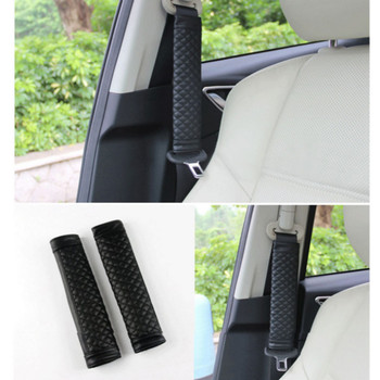 2x Leather seat safety belt Cover Accessories For BMW X5 X3 X6 E46 E39 E38 E90 E60 E36 F30 F30 E34 F10 F20 E92 E38 E91 E53 E87 image