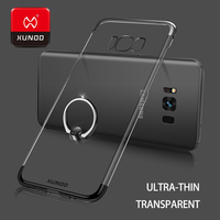 Ultra Thin Luxury Transparent Protect Case For New Samsung Galaxy S8 Plus S6 S7 Edge Ring