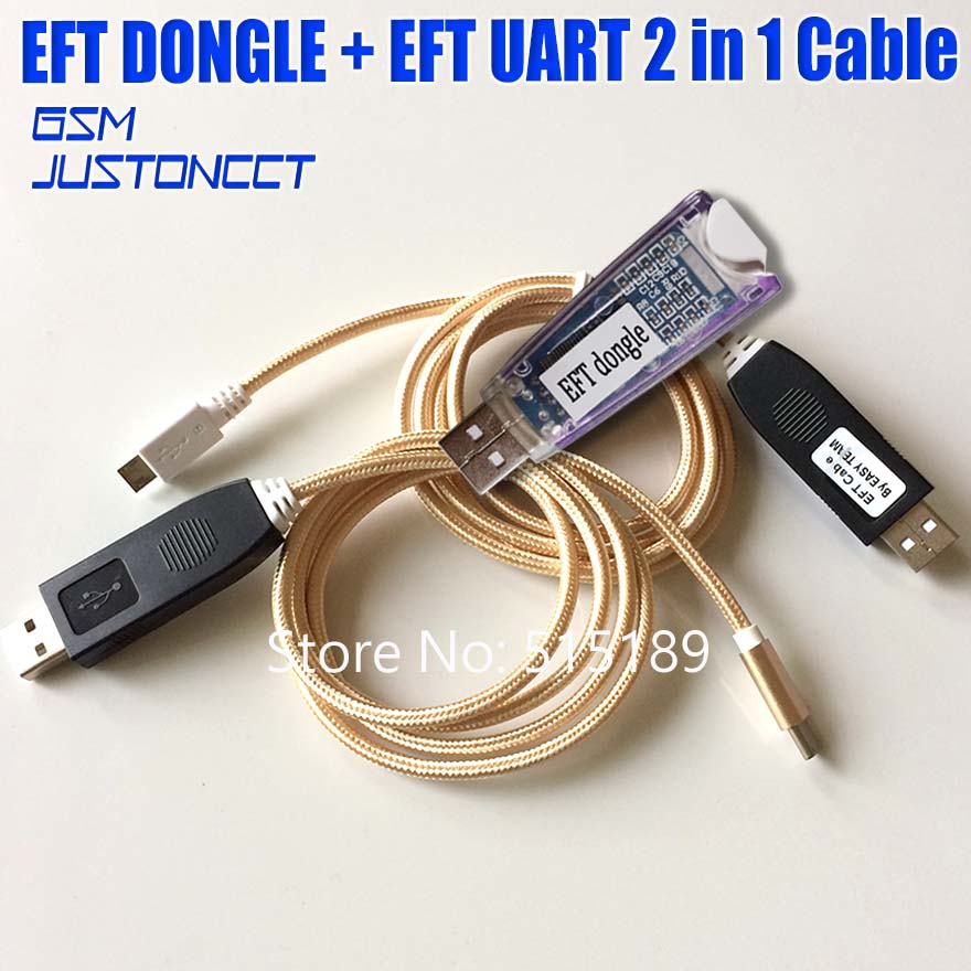 US $12 0 |EASY FIRMWARE TEMA / EFT DONGLE and Dongle Serial 2 IN 1 cable  for protected software for unlockin and repairing smart phones-in Phone