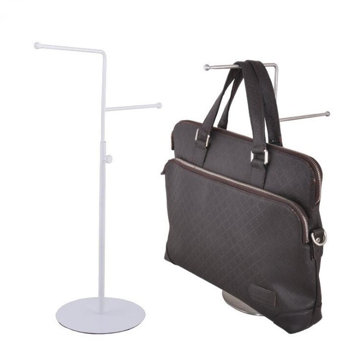 High/low style stainless steel tie scarf display rack men/women's handbag display holder adjustable wig purse showing stand rack