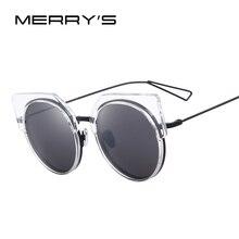 Merry's Для женщин Кошачий глаз Солнцезащитные очки Классические Брендовая дизайнерская обувь женские Солнцезащитные очки Óculos De Sol s'8091