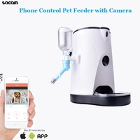 Smart Home HD 960P WiFi Wireless Pet Treat Dry Food Water Feeder Interactive Dog Camera with 2 Way Audio IR Night Vision Remote