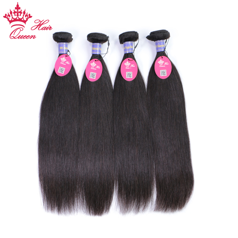 Queen Hair Malaysian Straight Hair Extension 8-30inch 4pcs/lot Natural Human Hair Bundles 100% Remy Hair Weave Free Shipping